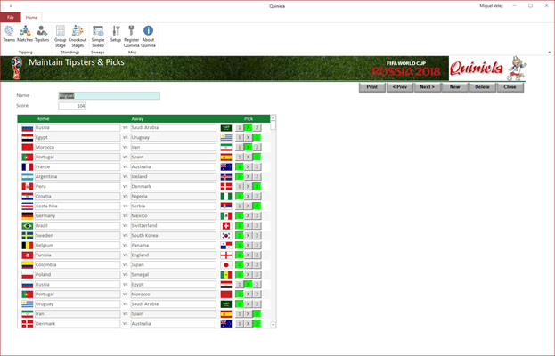 Tipsters Screen